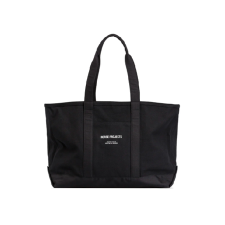 Norse Projects Stefan Canvas Tote Bag - Black
