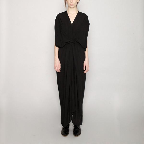 7115 by Szeki Signature Kimono Maxi Dress - Black