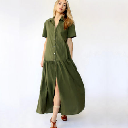 Cali Dreaming Market Dress - Dark Olive