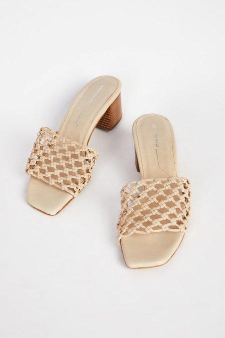 """INTENTIONALLY __________."" Selda Sandals - Cream"