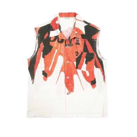 Our Legacy Sleeveless Box Shirt - Biker Print