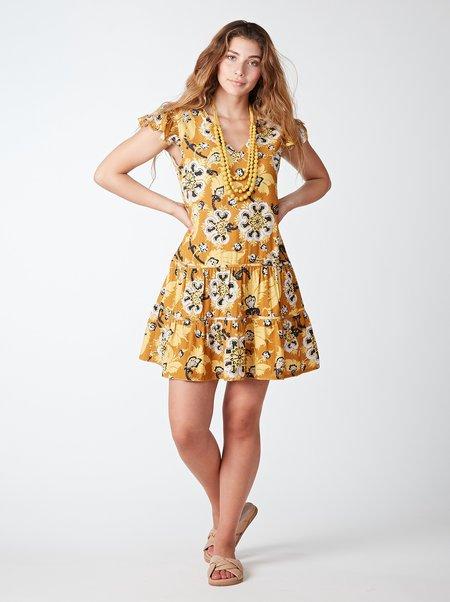 THE ODELLS Daisy Dress - SUNTAN MULTI