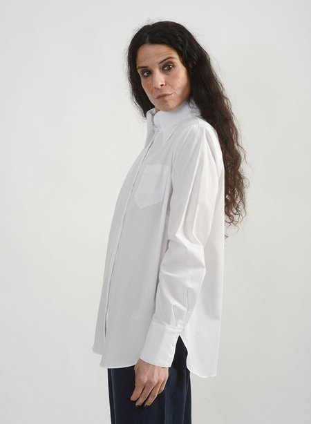 Meg Big Collar Shirt - White