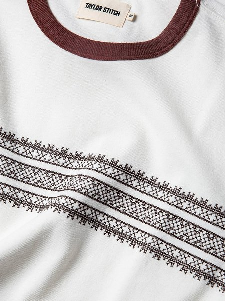 Taylor Stitch Heavy Bag Tee - Canyon Embroidered Stripe