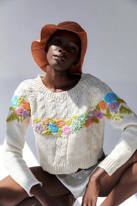 Tach Clothing Pipa Knit Sweater - white/multi
