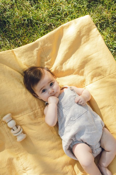 Kids Petits Vilains Loïc Overalls - Oatmeal