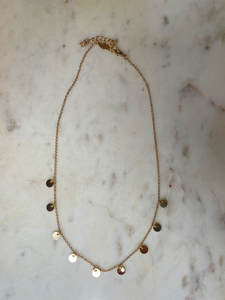 A.V. Max Lunar Charm Necklace - 14K Gold Plated Brass