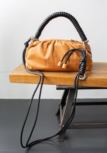 Methodology Leather Mini Cashew Bag - Mustard