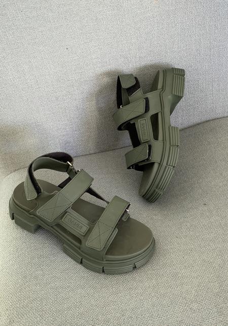 Ganni Recycled Rubber Sandals - Kalamata