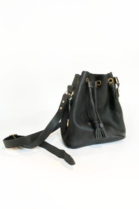 Vintage Dooney & Bourke Bucket Bag - Black