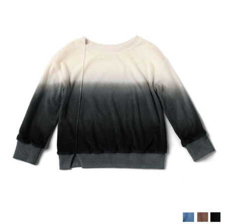kids unisex Omamimini Ombre Oversized Terry Pullover