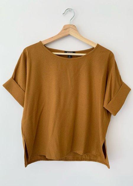 Natalie Busby Noil Shirt - Mustard