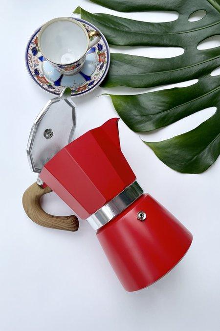 Betwentys Stove Top Espresso Pot - Red