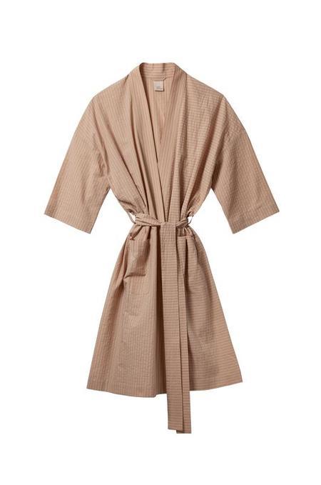 Soft Focus The Classic Robe - Tan Stripe