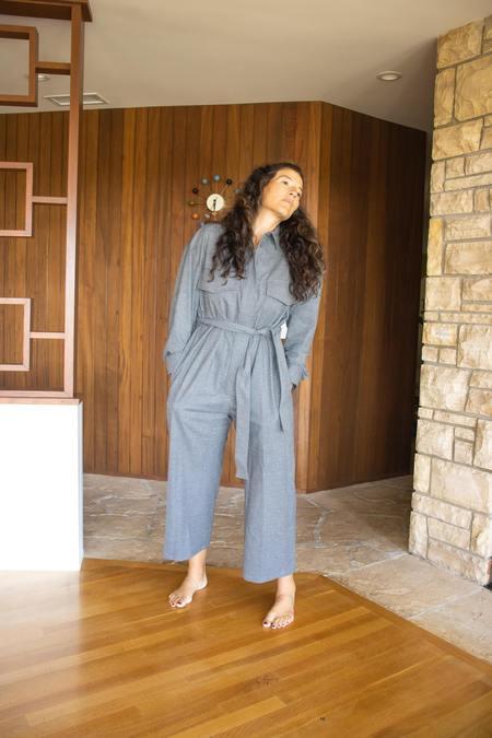 MM6 Maison Margiela Tuta Jumpsuit - Dark Grey Melange