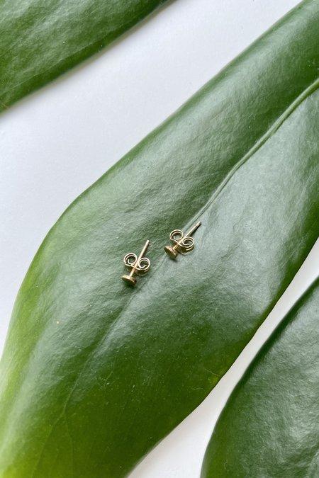 The Minimalist Magnolia Dot Studs