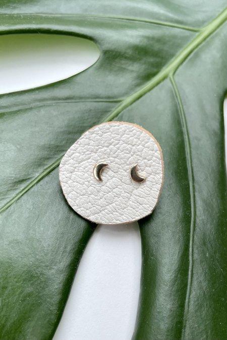 The Minimalist Magnolia Tiny Moon Studs