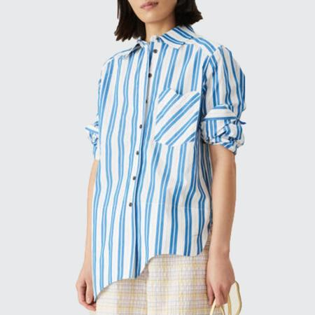 Ganni Stripe Cotton Shirt - Daphne