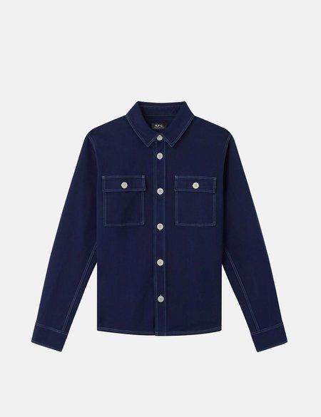 A.P.C. Bastain Overshirt - Stonewash Indigo