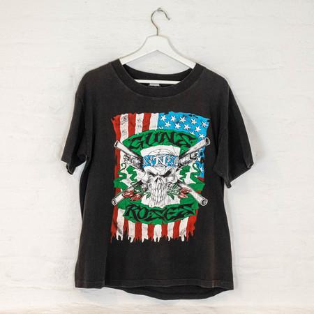 Vintage GnR x Metallica  '92 TEE - BLACK