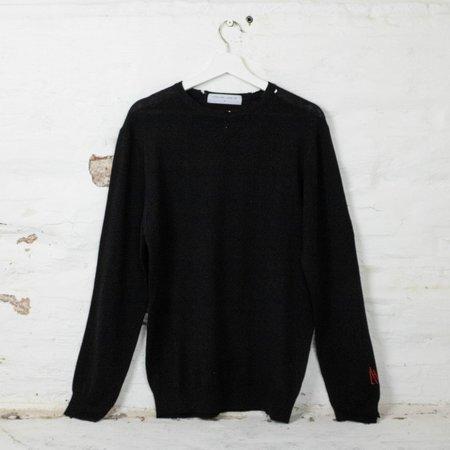 unisex Little High, Little Low KURT KNIT sweater - black