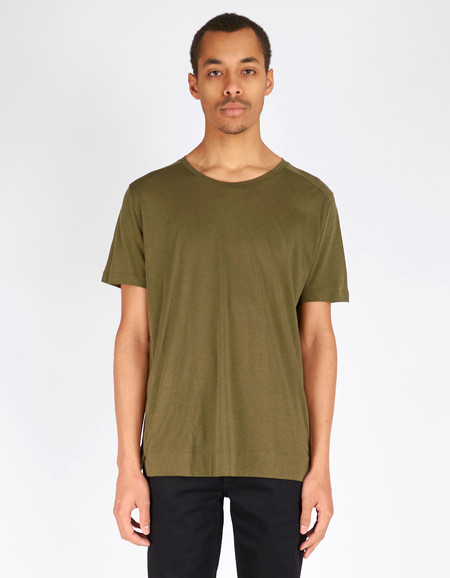 Filippa K Adrian Tencel Cotton Tee Air Force