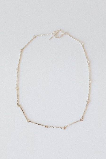 Another Feather Twist Collar - Silver