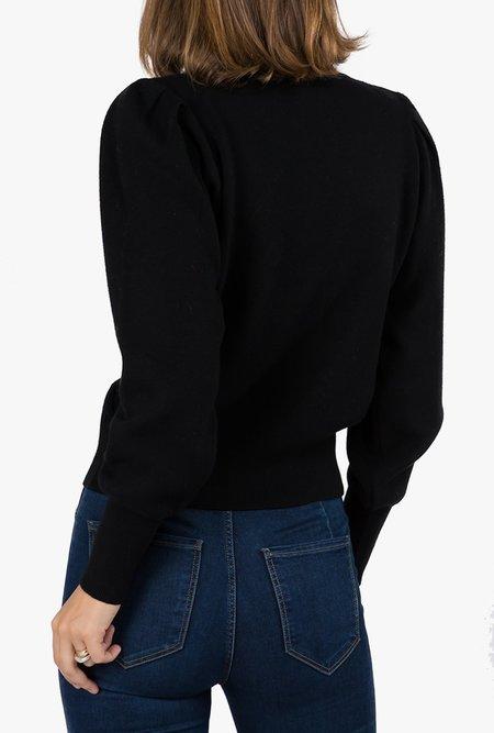 Azalea Anita Puff Sleeve Pullover - Black