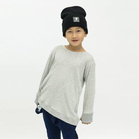 Kids Bash + Sass Asymmetric Pullover - Grey Skinny Stripes