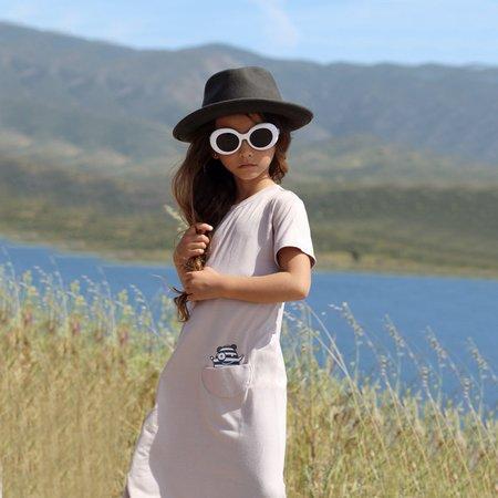 Kids Bash + Sass Asymmetric T-shirt Dress - Mocha