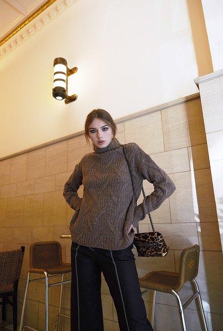Maison De Ines Autumn Leaf Cashmere Sweater - Cocoa