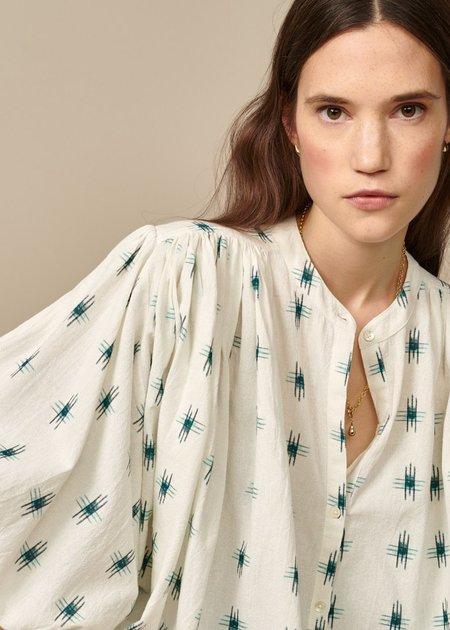 Bellerose Ink IKAT Embroidered Blouse - white