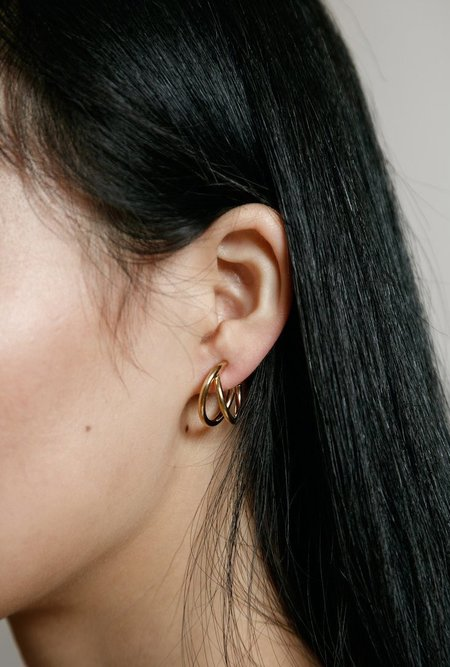 Wolf Circus Charlie Hoop Earrings - 14k gold plated bronze