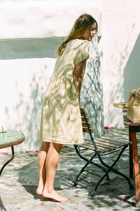 Merritt Charles Charlotte Linen Dress - Vintage Yellow