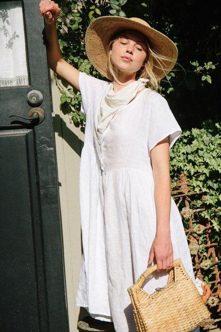 Merritt Charles Charlotte Linen Dress - White