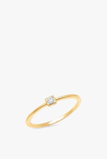 Eriness Diamond Princess Cut Pinky Ring