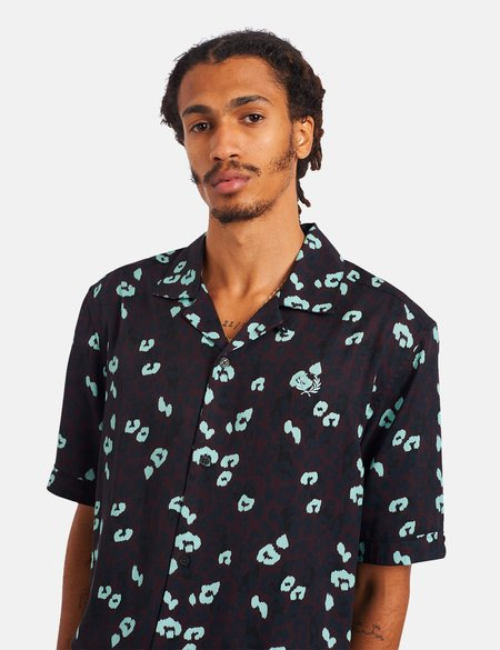 Fred Perry Animal Revere Collar Shirt - Mahogany