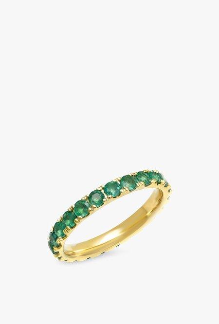 Emerald Large Eternity Band - 14kYG