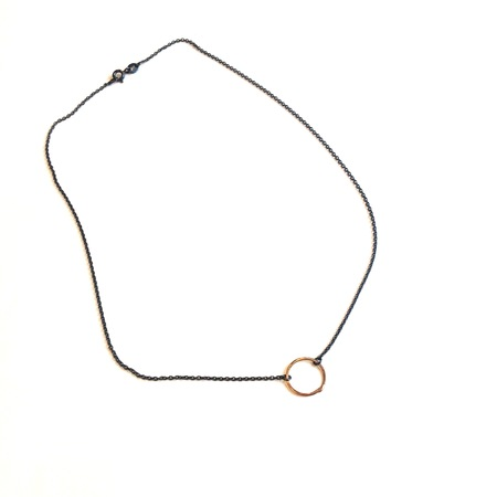 Gabrielle Desmarais 'Organic Circle' necklace with rose gold