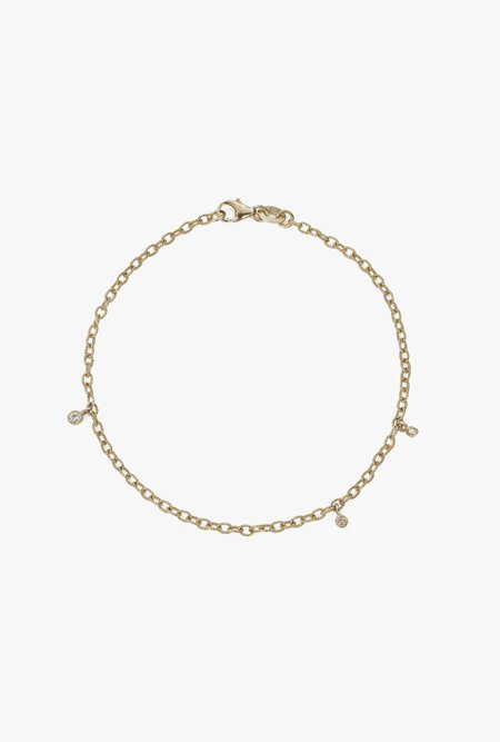 Jennie Kwon Designs Green Sapphire Diamond Moon Drop Bracelet