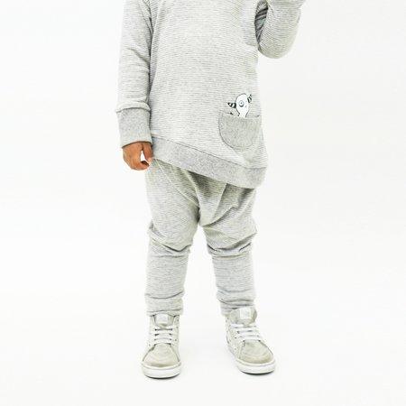 Kids Bash + Sass Hammer Pants - Grey Skinny Stripes