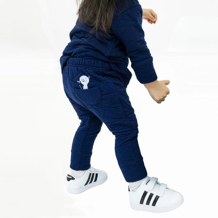 Kids Bash + Sass Hammer Pants - Quilted Deep Blue