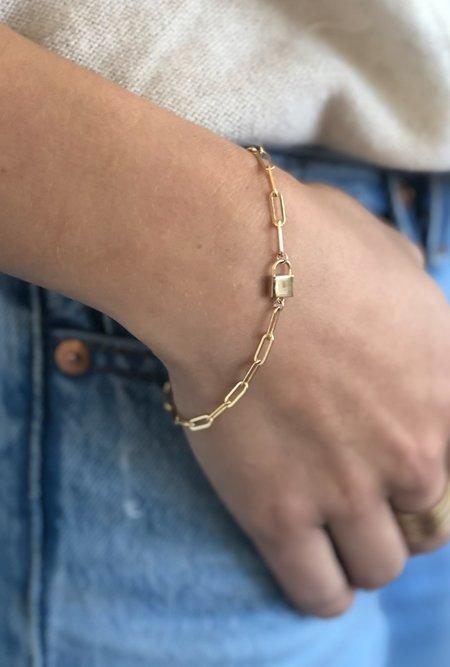 Thatch Jessa Lock Bracelet - 14K Gold Plated