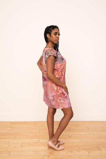 3rd Season Designs Laguna Silk Shift Dress - Petal Design