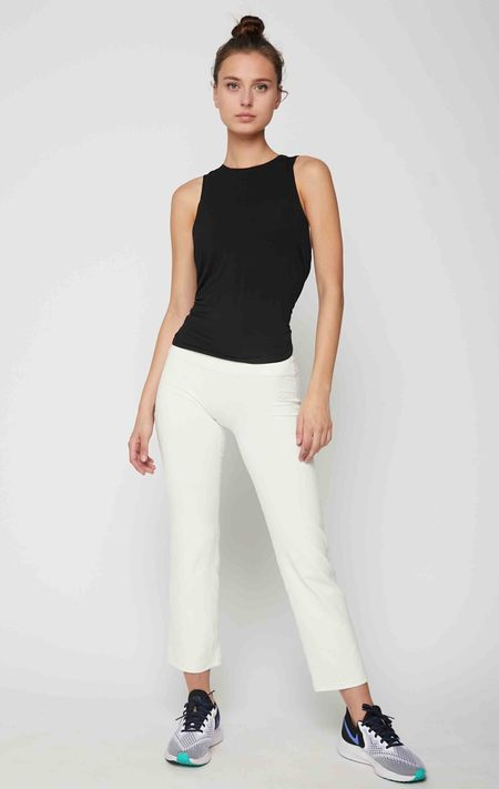 rebody Lexi Boot Cut Pants - Off White