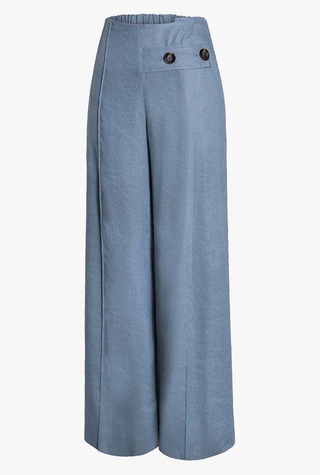 Maison De Ines Linen Wide Leg Pants