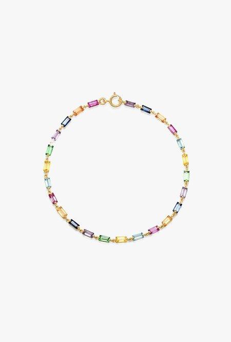 Eriness Baguette Link Bracelet - MULTI/14kYG