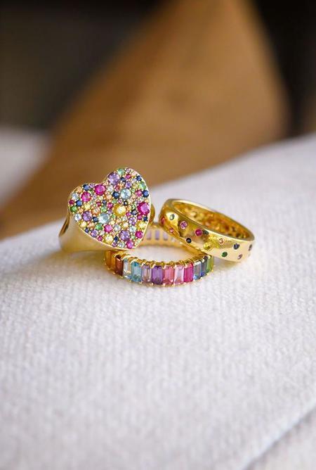 Eriness Polka Dot Ring - Multi/14K Gold