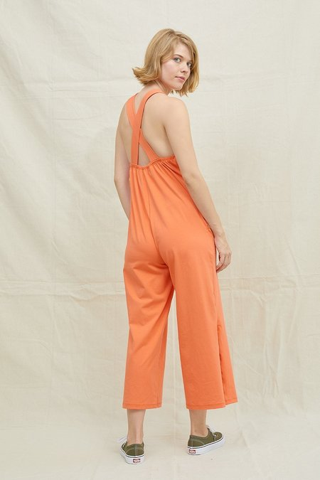 Back Beat Co. Organic Cotton Easy Jumpsuit - Blood Orange