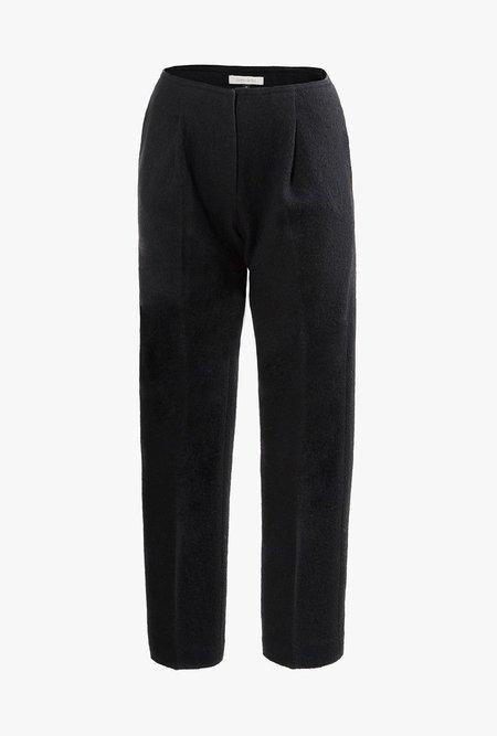Maison De Ines Pin-tuck Wool Pants - BLACK